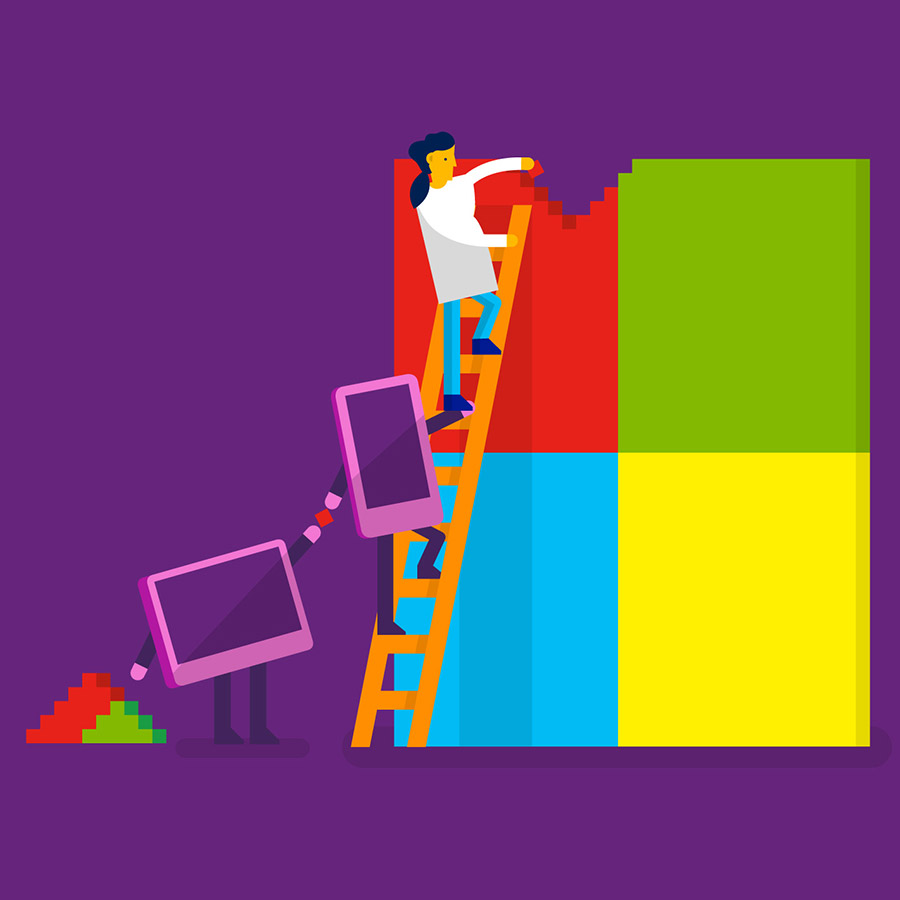 Microsoft Brand Illustration